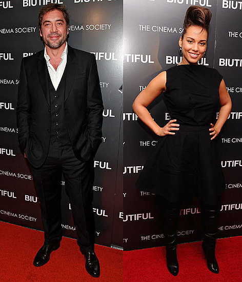 Pictures of Javier Bardem and Alicia Keys at a NYC Screening of Biutiful