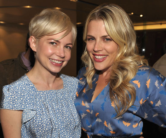 Slide Picture of Michelle Williams and Busy Philipps at LA Screening of Blue Valentine