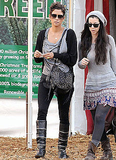 Pictures of Halle Berry Buying a Christmas Tree