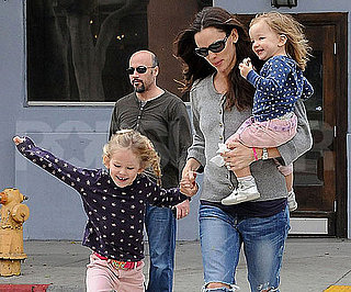 Slide Picture of Jennifer Garner With Violet and Seraphina Matching in New York