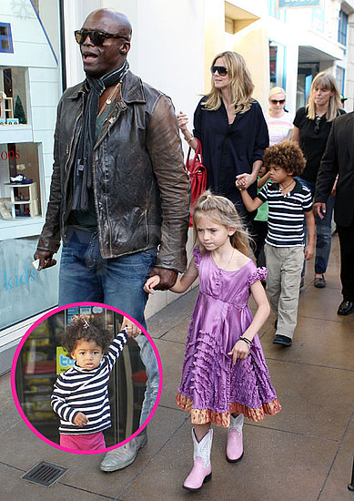 Pictures of Heidi Klum and Seal in LA With Kids Henry, Johan, Lou, and Leni