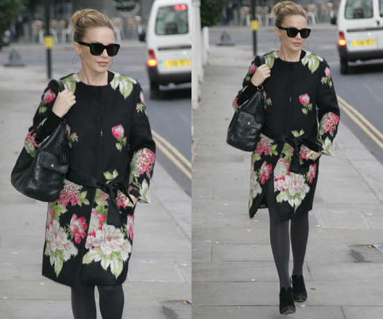 Photos of Kylie Minogue in Floral Coat in London