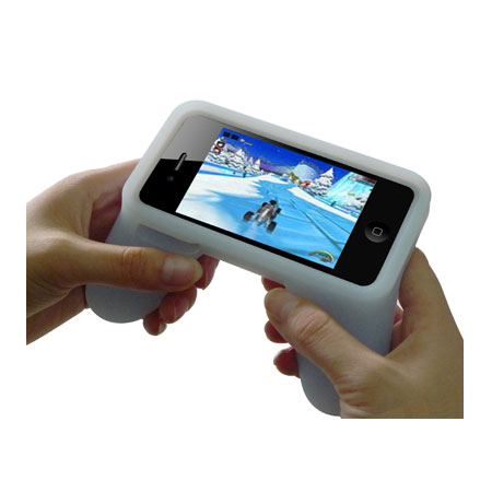 Silicone Gaming Handle for iPhone 4 ($21) *We have an exclusive pre-Christmas discount if you order before Dec. 19. Use the discount code 'LovePopsugar' to get 30 percent off your purchase if you spend $10 or more!