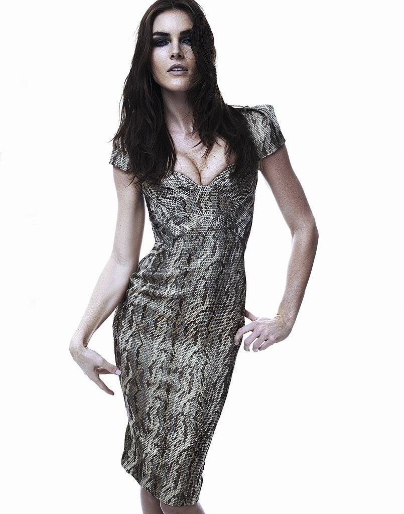 """Zac-ettes"" Crystal Renn, Hilary Rhoda, and Anna Cleveland Model Zac Posen's Form-Fitting Silhouettes For Pre-Fall 2011"