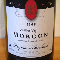 Wine Review: 2009 Raymond Bouland Vielles Vignes Morgon