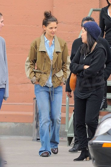 Pictures of Katie Holmes Leaving a Meeting With Jeanne Yang