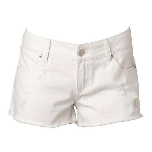 Lori White Wash Shorts