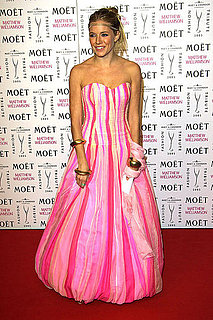 She-wore-neon-pink-princess-look-fashion-tribute-Matthew