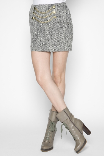 Chain-Detail Tweed Skirt ($49, originally $78)