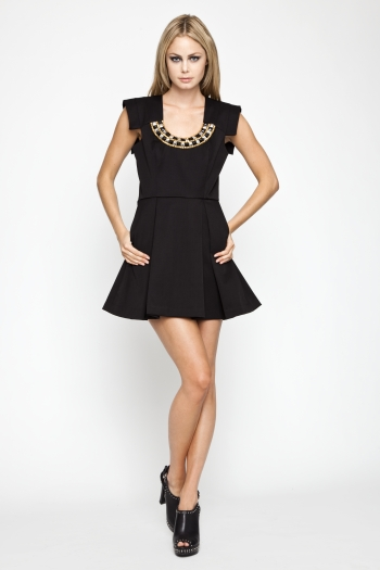 Studded Neckline Dress ($99, originally $148)