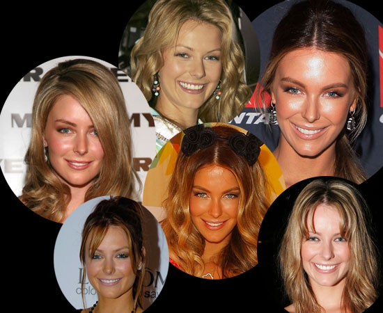Pictures of Jennifer Hawkins' Hair and Makeup