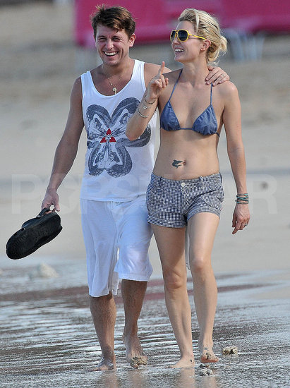 Pictures of Mark Owen and Emma Ferguson in a Bikini On the Beach in Barbados