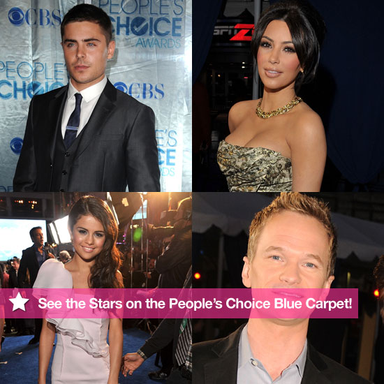 Pictures of Zac Efron, Taylor Swift, Kim Kardashian, and More at the 2011 People's Choice Awards 2011-01-05 19:35:00