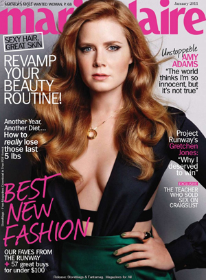 "Amy Adams Covers Marie Claire: ""The S Factor Unlocks Your Inner Erotic Creature"""