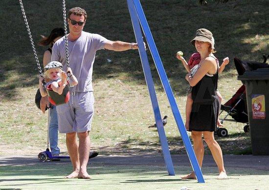 Pictures of Naomi Watts and Liev Schreiber in Australia With Sasha and Samuel