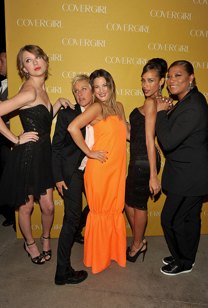 Taylor Swift, Lauren Conrad, Drew Barrymore, and Ellen DeGeneres Convene Post-PCAs For Cover Girl