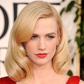 January Jones Golden Globes Hair and Makeup Tutorial