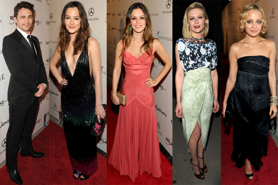 Pictures of James Franco, Kirsten Dunst, Nicole Richie, Leighton Meester, and Rachel Bilson at the 2011 Art of Elysium Heaven Ga 2011-01-16 11:38:09