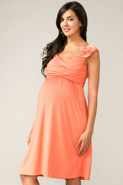 Bloomin' Maternity Dress in Coral