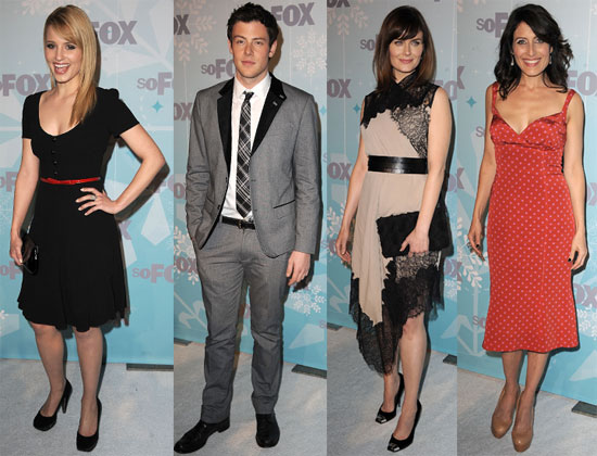 Cast of Glee, House and Bones at the Fox Winter TCAs Including Dianna Agron, Cory Monteith