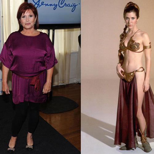 Carrie Fisher Loses Weight With Jenny Craig