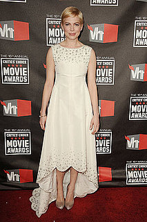 Michelle Williams Wears White For Critics Choice Awards