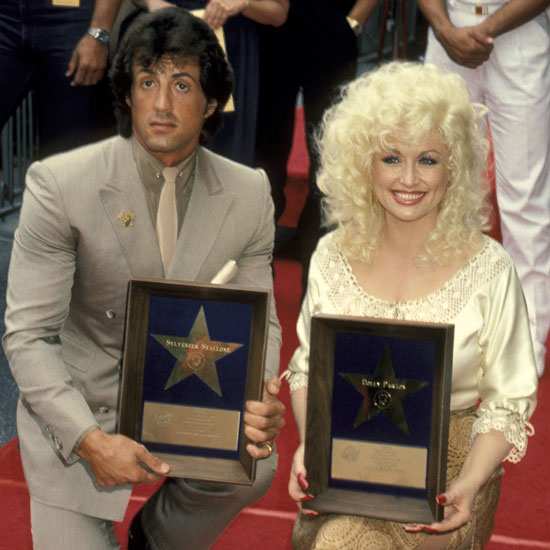 Getting her star on the Hollywood Walk of Fame in 1984 — she may be the only person whose hair actually got smaller in the 80s.