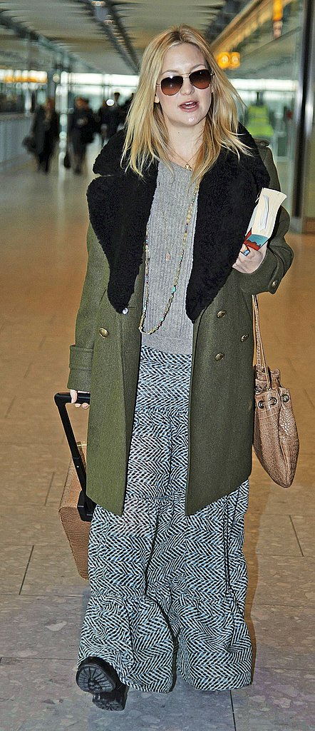Kate Hudson Heads to London With Her Baby Bump and Boyfriend