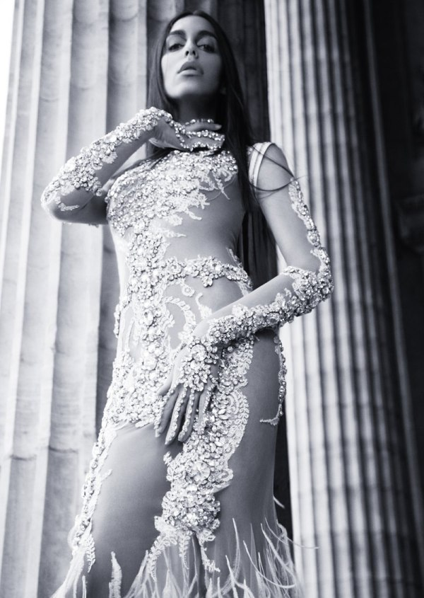 Is Lea T. channeling Cher in this dramatic outfit for Lurve magazine?