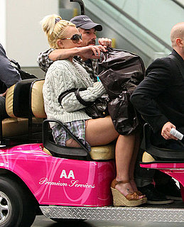 Pictures of Britney Spears and Jason Trawick at Miami Airport