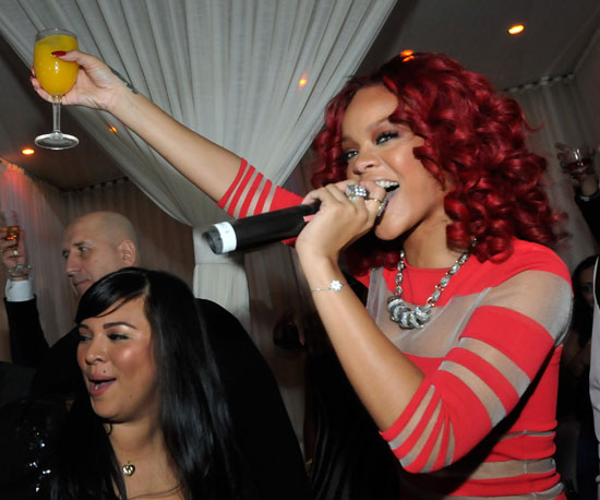 Slide Picture of Rihanna on New Year's Eve 2011