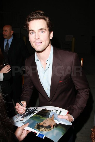 Pictures of Matt Bomer Signing Autographs For Fans Outside Jimmy Kimmel Live Studios