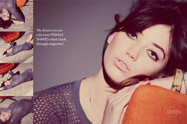 More Curves in Fashion Says Daisy Lowe For ASOS Magazine's February 2011 Issue