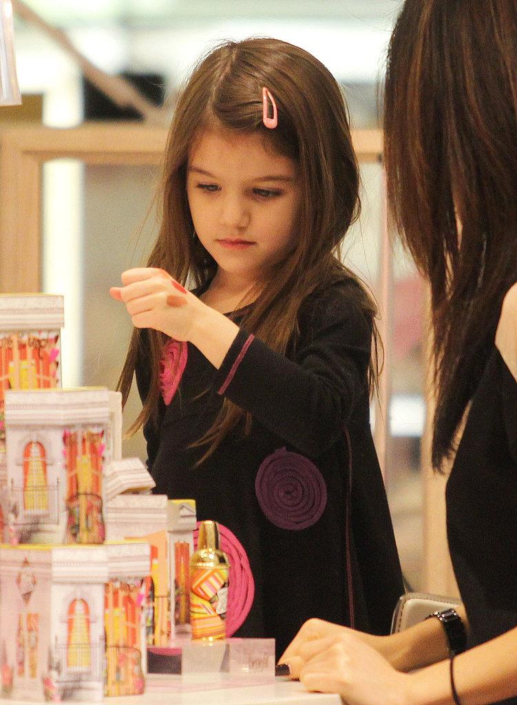 Pics: Suri Cruise Tests Out Lipstick Colors!