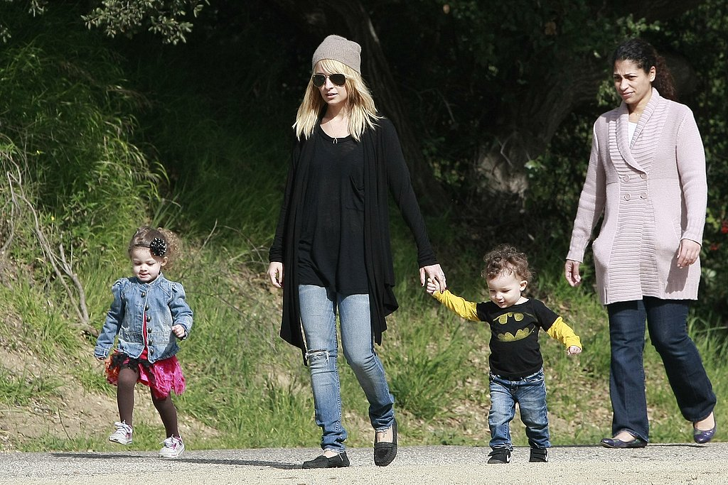 Nicole Brings Her Stylish Ballerina Harlow and Batman Sparrow Out For a Walk