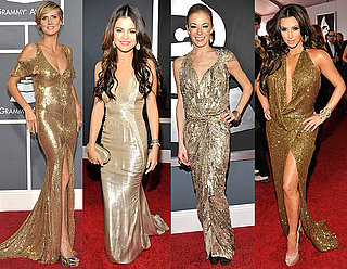 Gold Gowns at the 2011 Grammy Awards