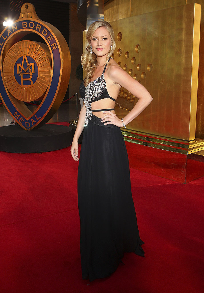 Amanda Watson who's  Shaun Marsh's squeeze, chose this backless embellished number for her turn on the red carpet.
