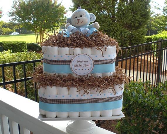 Square Diaper Cake