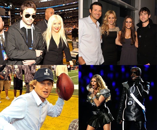 Jennifer Aniston, Fergie, Christina Aguilera, Owen Wilson, Chace Crawford and More at the 2011 Super Bowl