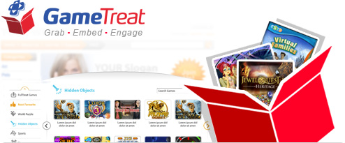 GameTreat is a new Web App that allows you to offer high quality casual game content in your website – for FREE!