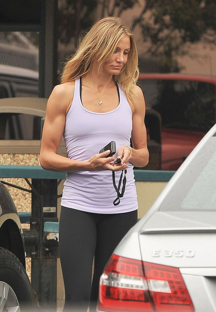 Cameron Breaks Out Her Big Guns For a Workout With Alex