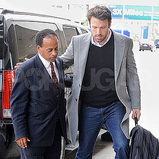 Pictures of Ben Affleck Arriving at LAX and Giving His Driver a Hug
