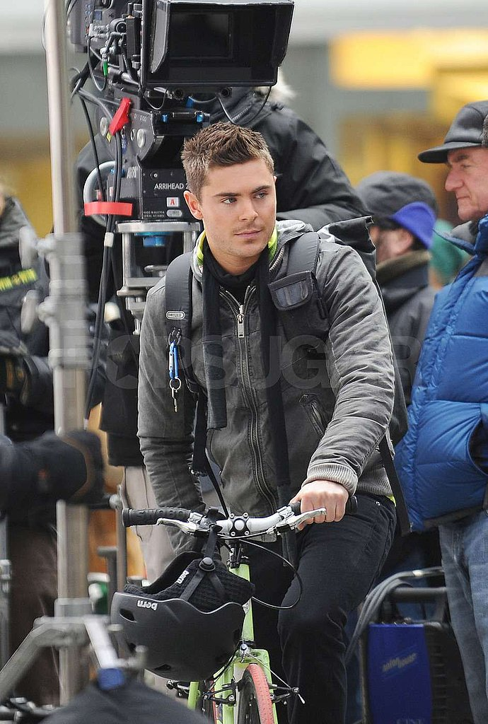 Zac Makes a Sexy Cyclist as He Keeps Up Work on New Year's Eve