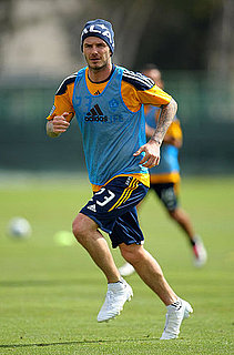 Pictures of David Beckham Practicing Soccer With the LA Galaxy