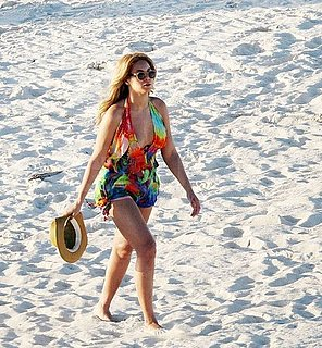 Pictures of Beyonce Knowles in a Colorful Bathing Suit Vacationing With Jay-Z in the Caribbean
