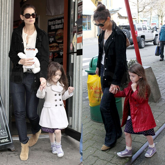 Pictures of Katie Holmes and Suri Cruise in Vancouver With Tom Cruise