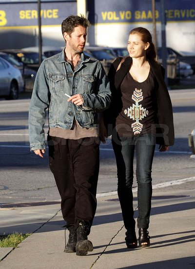 Pictures of Amy Adams and Darren Le Gallo Out For Lunch and Visiting a Mechanic in LA