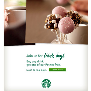 Here's to You — Come to Starbucks For Our 40th Anniversary Celebration