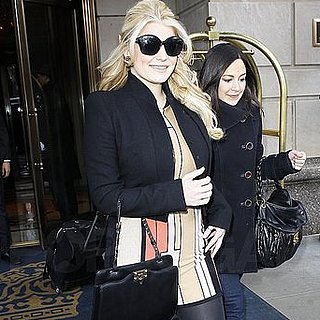 Pictures of Jessica Simpson Leaving the Ritz in NYC