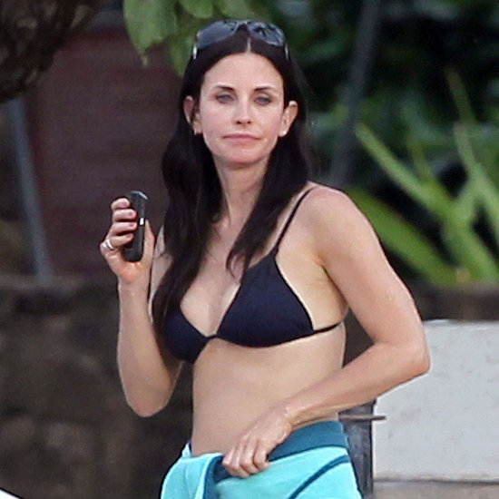 Pictures of Courteney Cox in Her Bikini on the Cougar Town Set in Oahu
